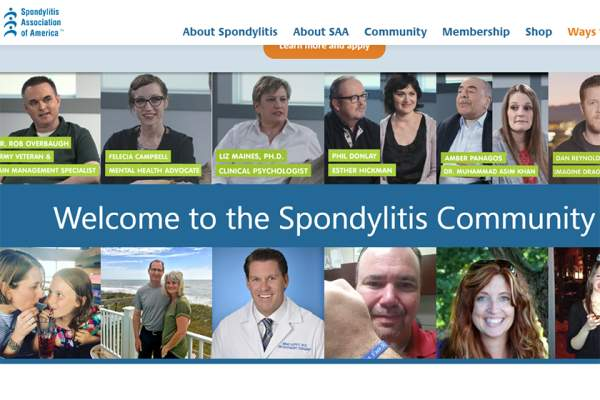Spondylitis Association of America homepage