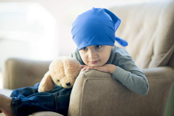 Little boy with cancer