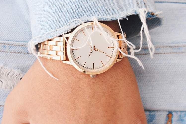 Woman's wrist watch.