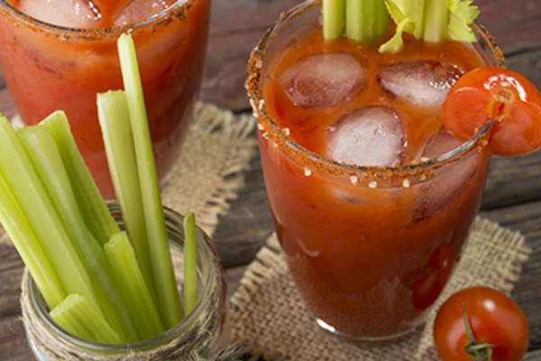 Bloody Mary and celery sticks.