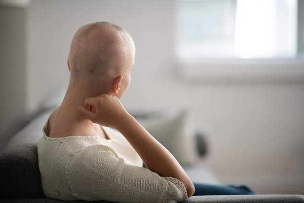 Cancer patient staring away