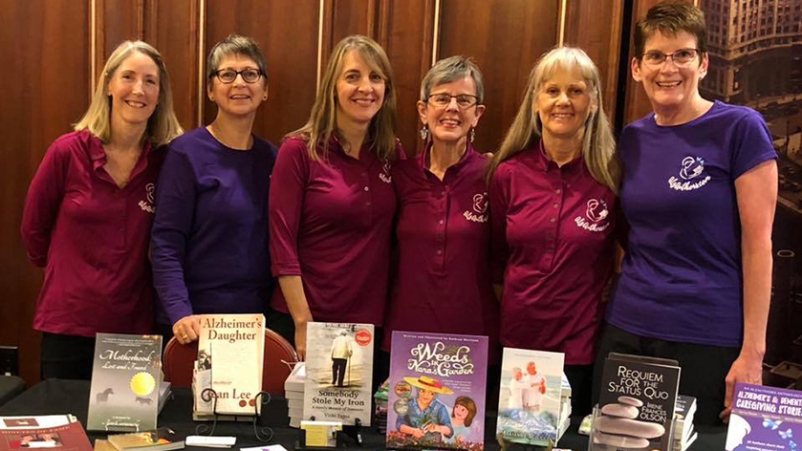 Alzheimers Authors showcasing their books.
