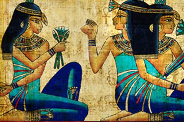 Portrait of Ancient Egyptian women.