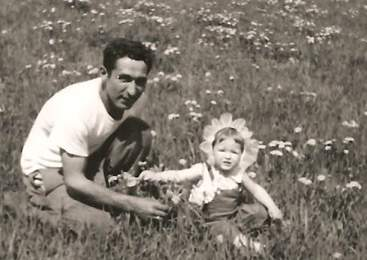 Marianna with her father