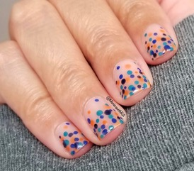 Monica Sengupta's dotticure nail art technique.