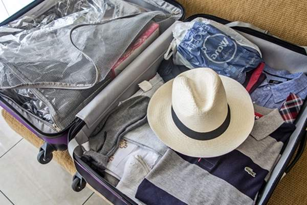 packed suitcase image