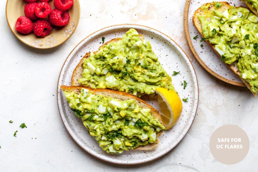 Avocado-Egg Salad Toast