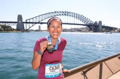 Cheryl Hile at the Sydney marathon.