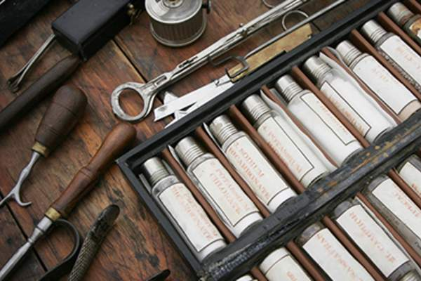 Historical medical instruments.