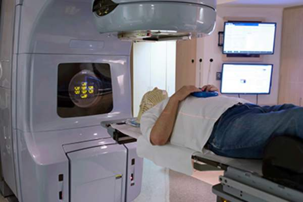 Radiation therapy treatment.