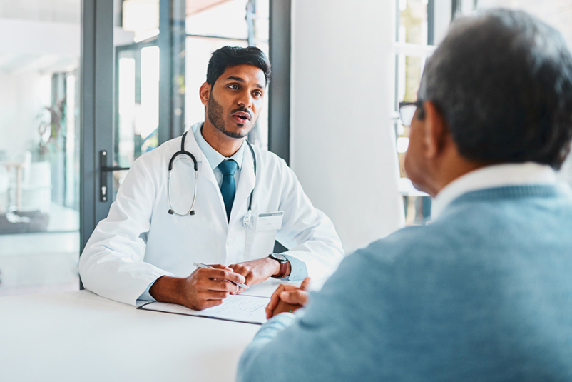 Doctor explaining info to a patient