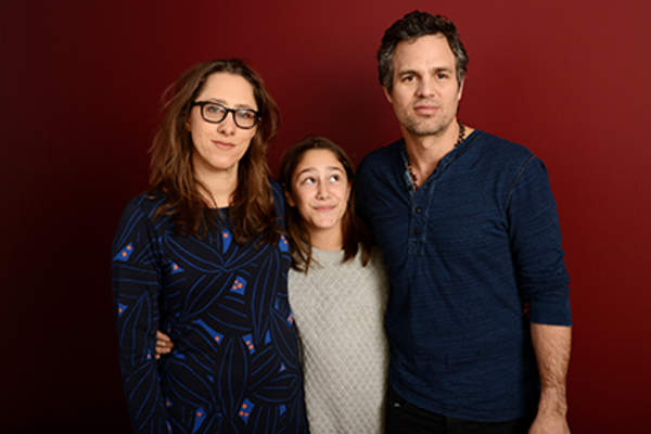 Filmmaker Maya Forbes and actors Imogene Wolodarsky and Mark Ruffalo pose for a portrait during the 2014 Sundance Film Festival.