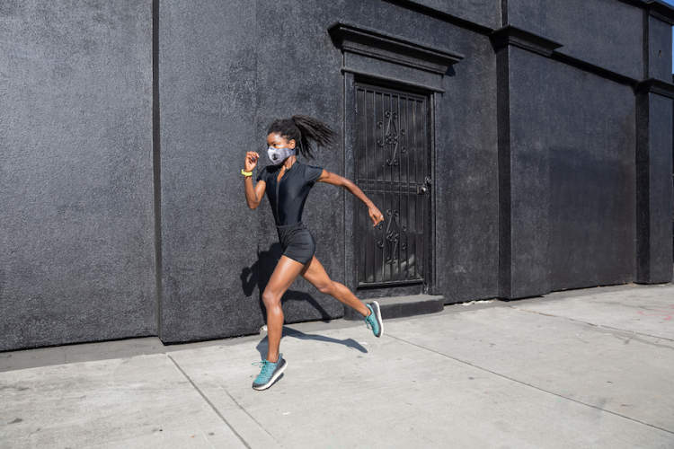 running in mask