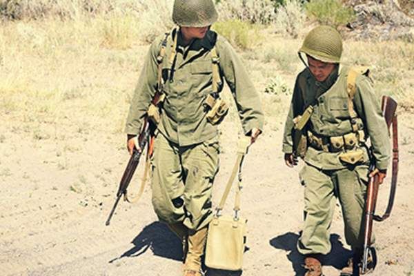 Two Soldiers walking