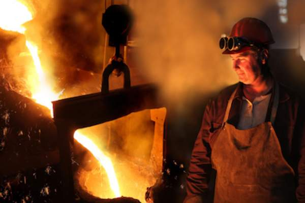 Hot work environments like steel mills can increase men's risk of MBC.