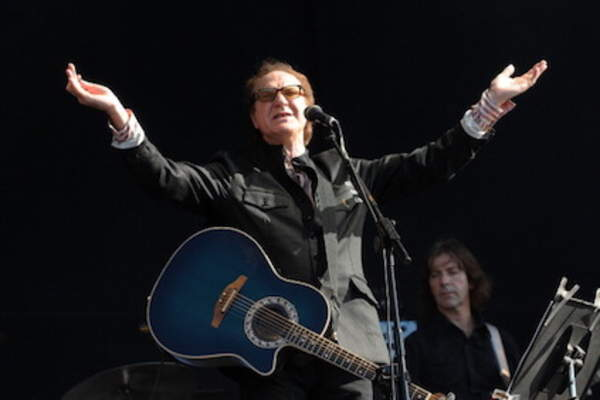 Ray Davies performs live on stage during the second day of 'Hard Rock Calling' music festival at Hyde Park.