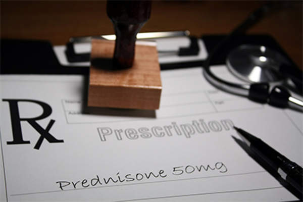 Prednisone prescription.