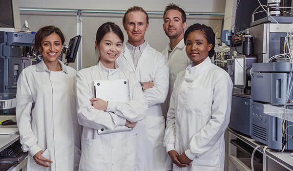 Cancer research team of doctors.