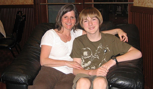 Cathy with Son