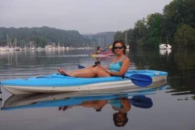 Lori Ann King enjoying a little kayak time.