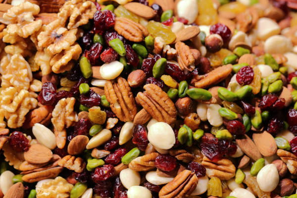 nuts and seeds and cranberries