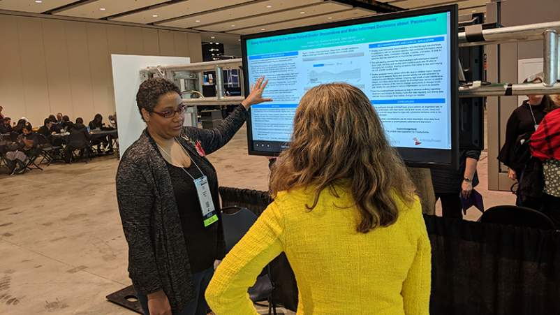 Dawn Gibson's painsomnia poster at the 2018 meeting of the American College of Rheumatology (ACR).