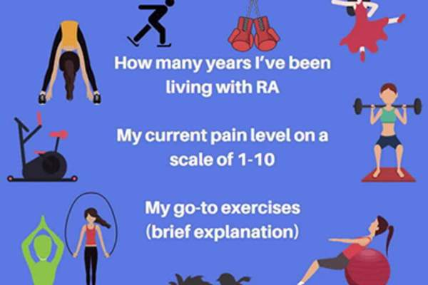 Types of exercise with RA.