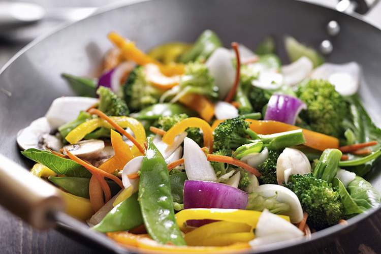 Stir fry vegetables.