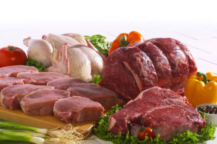 Common meats that are high in choline and carnitine.
