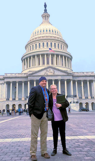 Teri robert and David Watson, M.D., in Washington D.C.