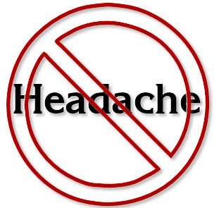 Just say no headache image.