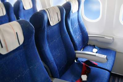Seats on an airplane too small for obese passengers.