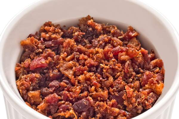 Bacon bits in bowl image.