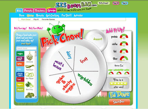 Pick Chow game helps kids make healthy food choices