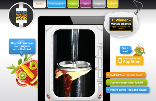 smash your food game educates kids on the foods they eat