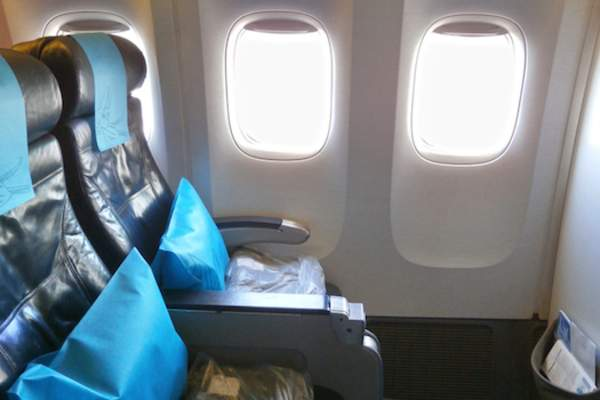 Economy class on airplane