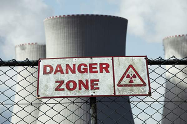Danger zone at nuclear power plant