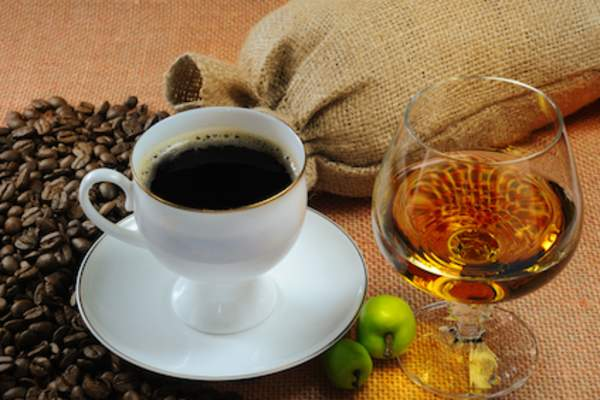 Cognac and coffee
