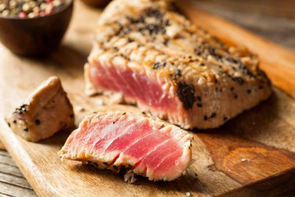 Grilled Sesame Tuna Steak