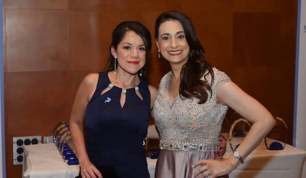 Branny Carrasco (left) with Debbie Zelman, founder of Debbie's Dream Foundation (right).