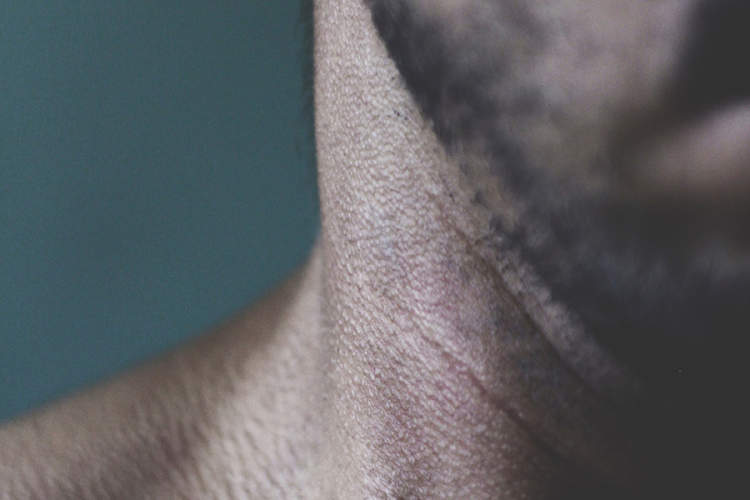 Man's neck close-up