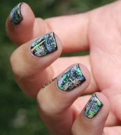 Monica Sengupta's dry brushing nail art technique.