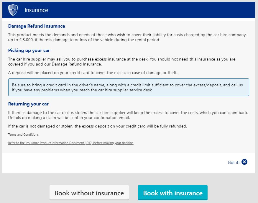 Damage Refund Insurance Explained