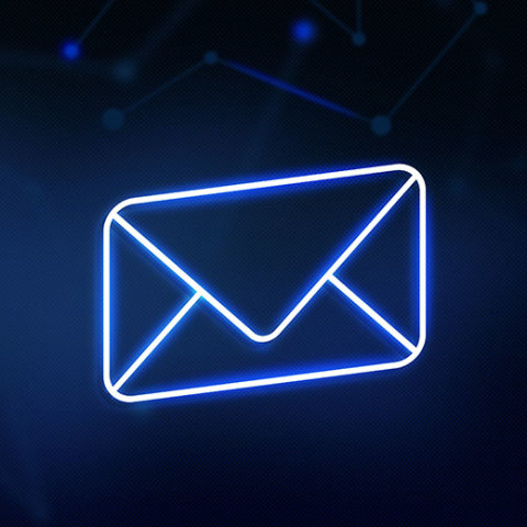 Thumb-email-icon-on-futuristic-background