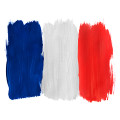 Thumb-painted-French-flag