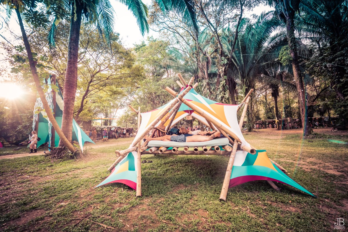 Envision Festival Lounge Tent Relax JB Photo Costa Rica palm trees