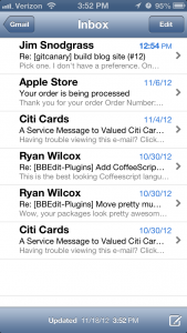 Email on iOS 6