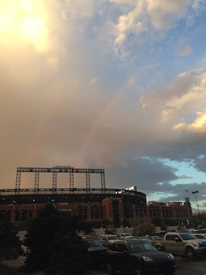 Double Rainbow over Coors Field