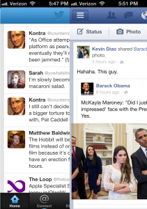 Twitter and Facebook on iOS6