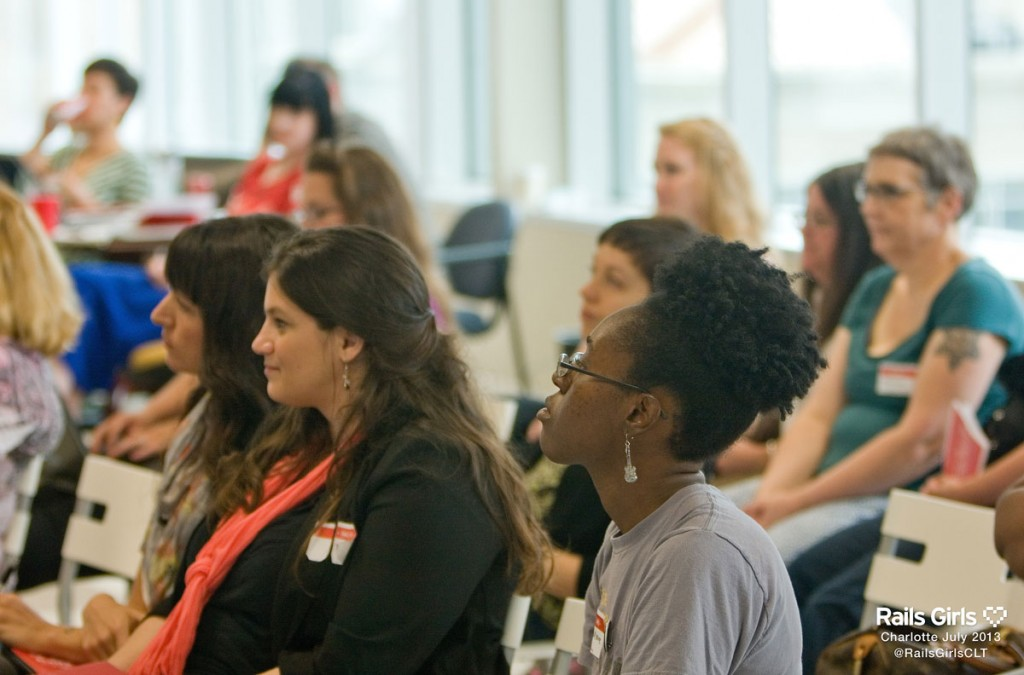 Women at Rails Girls Event